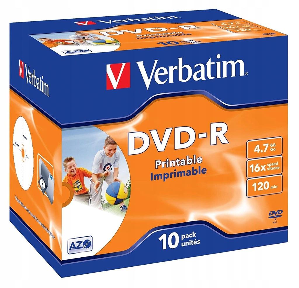 """Płyty DVD Verbatim 43521 """"DVD-R AZO 4,7 GB"""