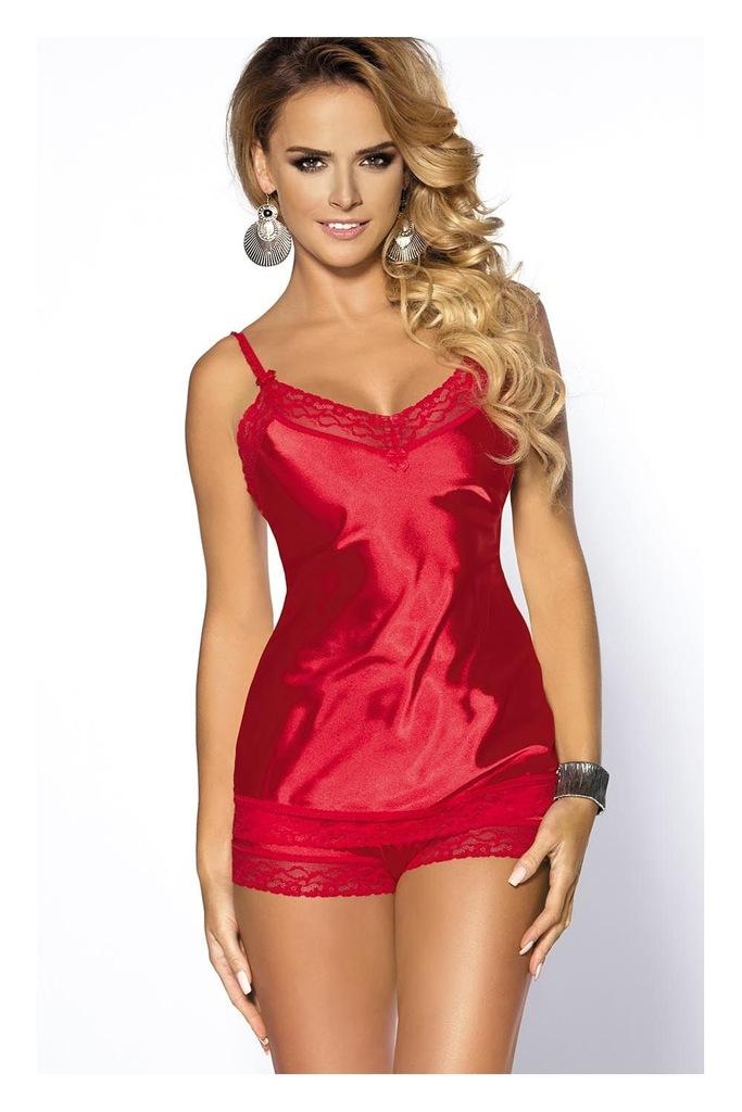 Elegancki Sexy komplet Anais Marcia czerwony XL