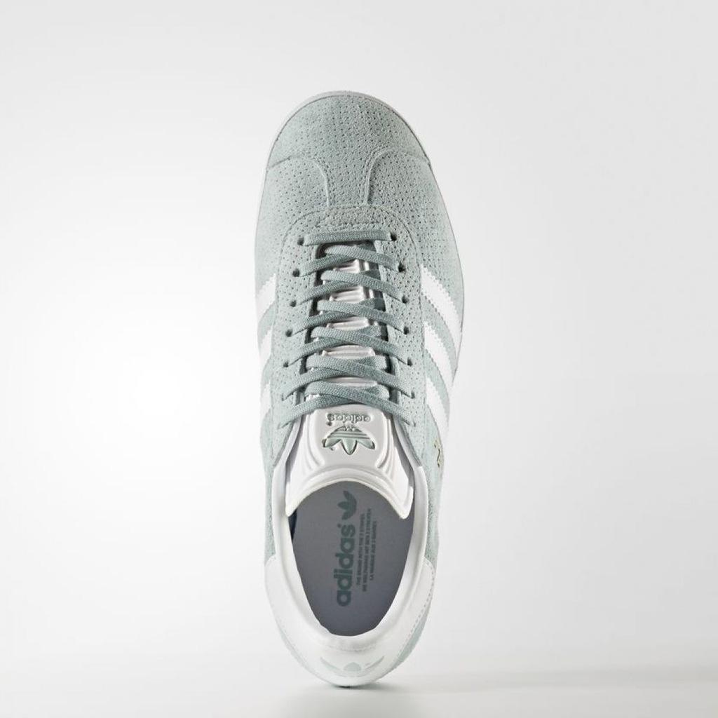 Buty damskie adidas Gazelle BY9358 | Biały, odcienie zieleni