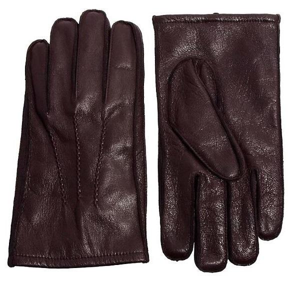 ASOS męskie brązowe skórzane rękawiczki