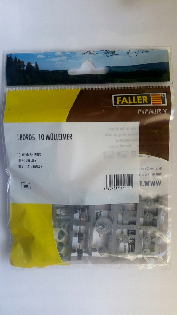 Faller 180905 h0 10 Poubelle