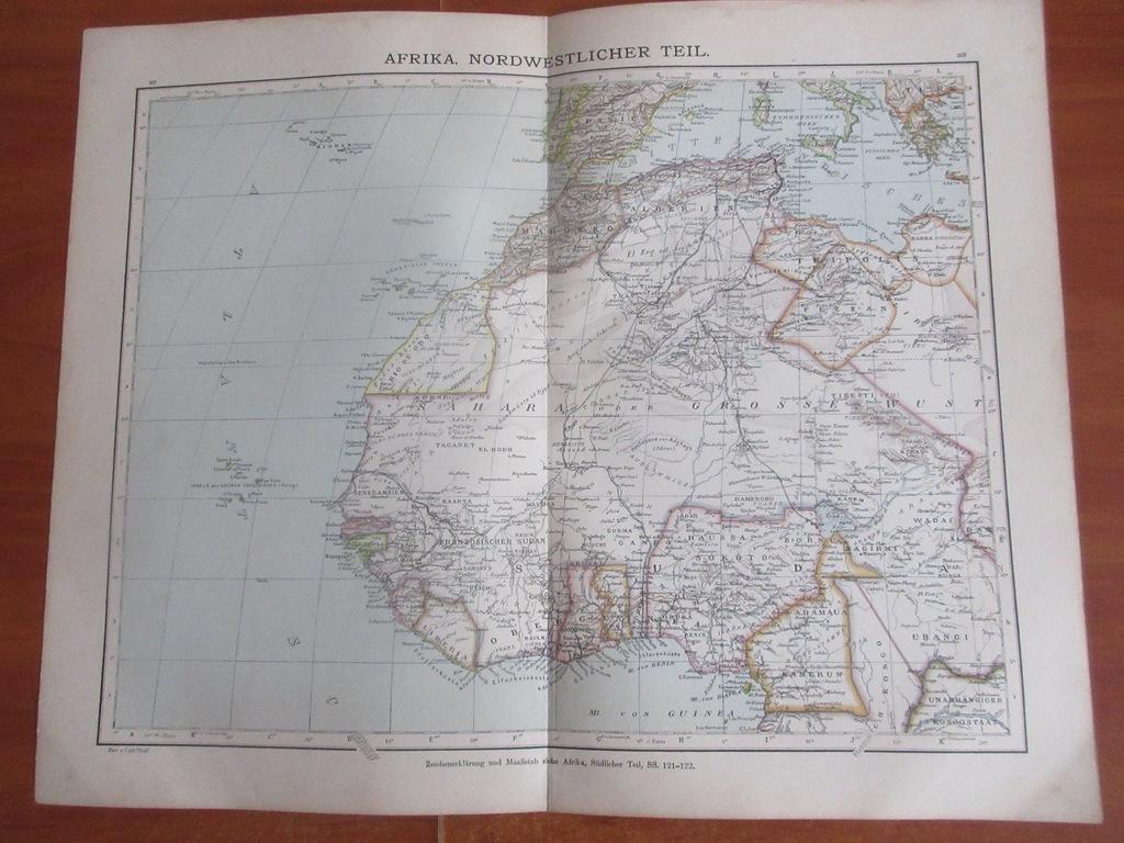 NIGER CZAD KAMERUN MALI SAHARA    1896 ROK