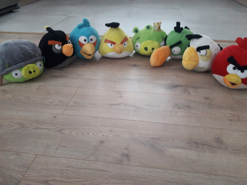 Angry Birds Maskotki Pluszaki Z Tesco Duze 8 Szt 7748271749 Oficjalne Archiwum Allegro