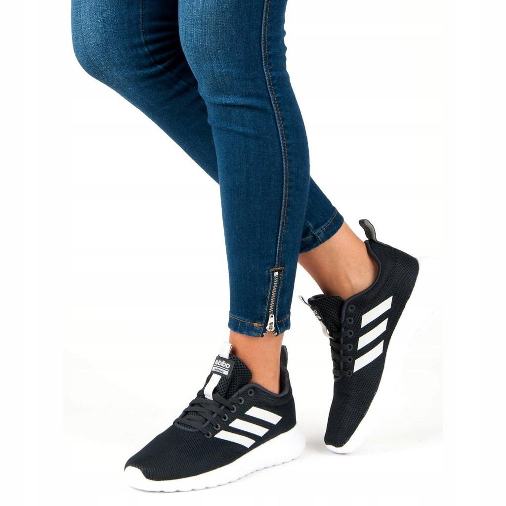 Adidas Sportowe Damskie Czarne Tekstylne r.38,5
