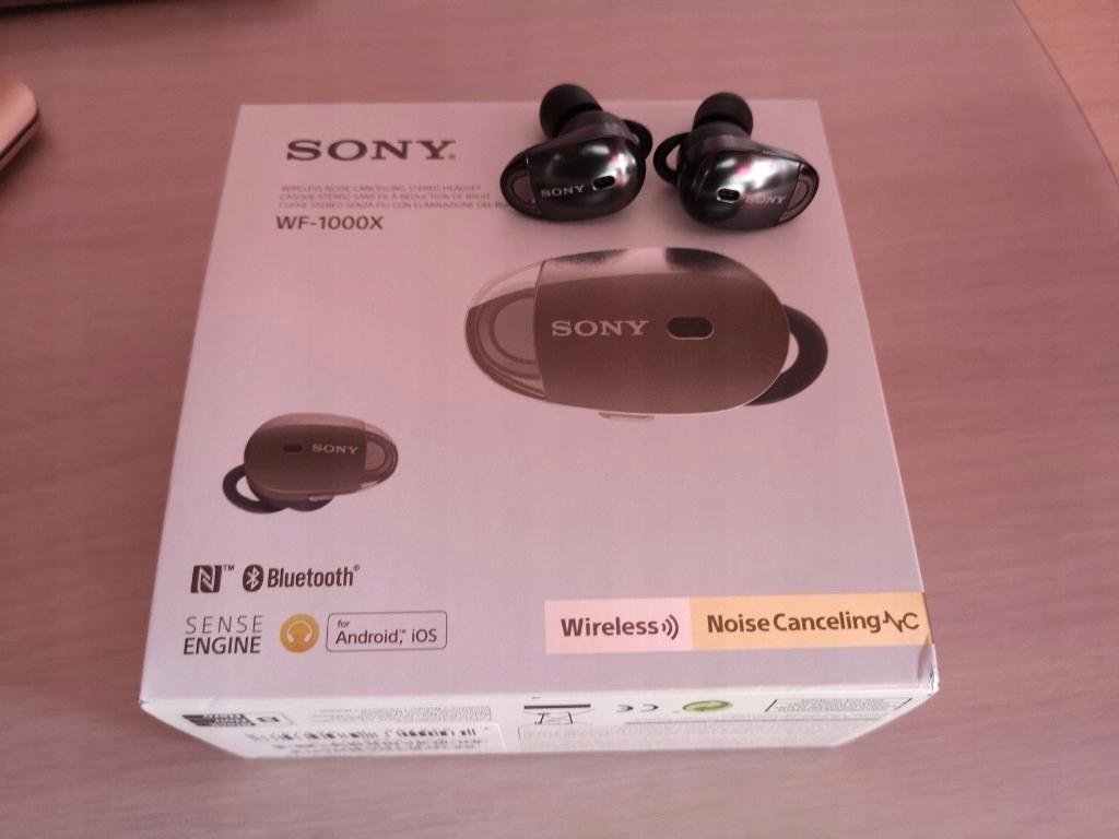 Słuchawki Sony WF 1000X Bezprzewodowe Okazja