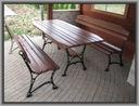 Komplet mebli ogrodowych stół i ławki PRODUCENT Z6