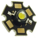 Dioda POWER LED 3W biała ZIMNA z radiatorem 2mm