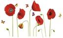 Naklejki ścienne na ścianę kwiaty KWIATKI MAKI