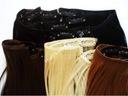 doczepiane włosy naturalne CLIP IN ON treska 15cm