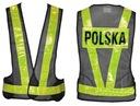 KAMIZELKA MOTOCYKLOWA ODBLASKOWA NAPIS POLSKA -XL