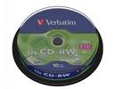 VERBATIM CD-RW 700MB 12x cake 10 sztuk