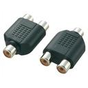 Adapter przejściówka RCA - 2x RCA CHINCH F/F