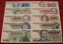 ZESTAW BANKNOTÓW PRL 10 - 10 000 ZŁ !!! STAN UNC
