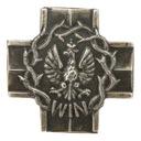 Krzyż WiN odznaka wpinka Wolność i Niezawisłość