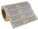 nalepki naklejki kody kreskowe druk etykiety tanio