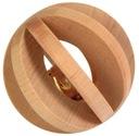 Piłka drewniana, zabawka dla królika gryzoni 6 cm