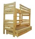 GLADIATOR 90x200 łóżko piętrowe 3osob MEGA 150 kg!