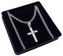 Łańcuszek srebrny rombus + krzyżyk NAJTANIEJ r034