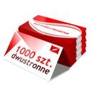 1000 szt. WIZYTÓWKI dwustronne + PROJEKT + 350g