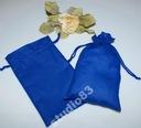 Worki, woreczek z bawełny -13/22 cm - niebieski
