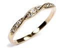 ZŁOTY 585 pierścionek do OBRĄCZKI zaręczynowy 24h