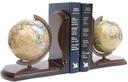 2 szt. Podpórki do książek + Globusy DREWNO globus