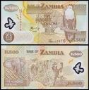 ~ Zambia 500 Kwacha 2009 P-43g Polimer UNC Rzadki