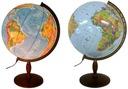 Globus 420 mm PODŚWIETLANY 2w1 DREWNO * NA PREZENT
