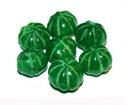 SZMARAGD rzeźbiony melon 1 szt, ok.18 ct
