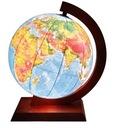 Globus 420mm PODŚWIETLANY 2w1 DREWNO OPRAWA NOWOŚĆ