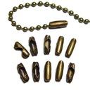 Końcówki zapinki łańcuszka kulkowego 20szt BR J141