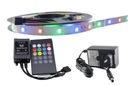 ZESTAW taśma 300 LED RGB 2835 3528 muzyczny 5m