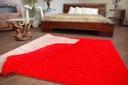 DYWAN SHAGGY 70x100 5cm czerwony miękki jednolity Wzór jednobarwny