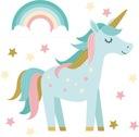 Naklejka ścienna jednorożec unicorn tęcza dziecko