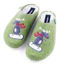 DR BRINKMANN 320484 zielone pantofle filc ŁOŚ r 35