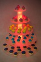 Stojak patera na ciasto tort podświetlana 5st LED Kod produktu SOTI Piramida 5st
