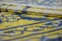 DYWAN VINTAGE 80x150 KWIATY żółty #B831 Kolor odcienie żółtego odcienie szarości czarny