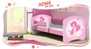Łóżko dziecięce 140X70 + materac RÓŻOWE ACMA Bohater inny