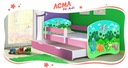 Łóżko dziecięce 160x80 szuflada materac RÓŻ ACMA Bohater inny