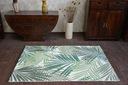 Dywan SISAL 120x170 DŻUNGLA JUNGLE LIŚCIE #B641 Kolor biały kremowy odcienie zieleni