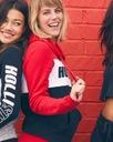 HOLLISTER by Abercrombie Damska Bluza Logo L Kolor czerwony czarny biały