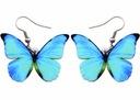 Kolczyki Motyl, motyle - MOTYL NIEBIESKI BŁĘKITNY