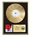 Złoty Winyl Płyta w ramie z grawerem dedykacji XL