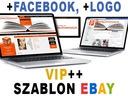 RESPONSYWNY szablon EBAY - VIP++, FB, LOGO, f.vat