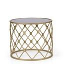 Stolik stół metalowy złoty fi 50 cm