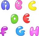 Kolorowe naklejki imię dziecka litery alfabet 30cm