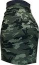 L MORO MINI MILITARY KHAKI tuba gumka spódnica 40 Kolor brązowy zielony