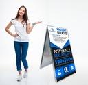 Potykacz stojak 100x55cm z grafiką Projekt Gratis Waga (z opakowaniem) 5 kg