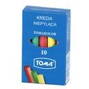 Kreda kolorowa niepyląca okrągła TOMA OM-81201 10