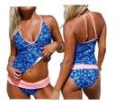 Tankini strój kąpielowy bikini kolorowe 410227 2XL